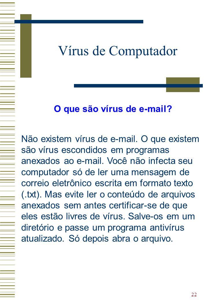 O que são vírus de e-mail