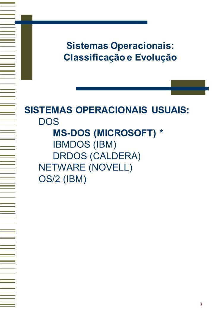 Sistemas Operacionais: Classificação e Evolução