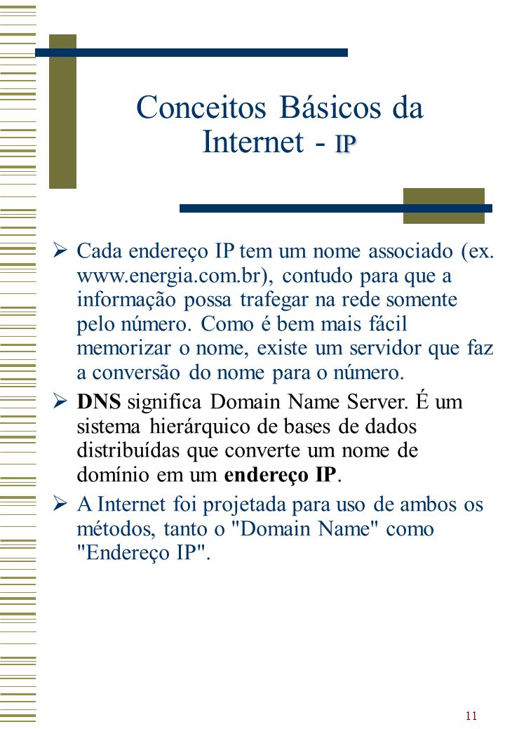 Conceitos Básicos da Internet - IP