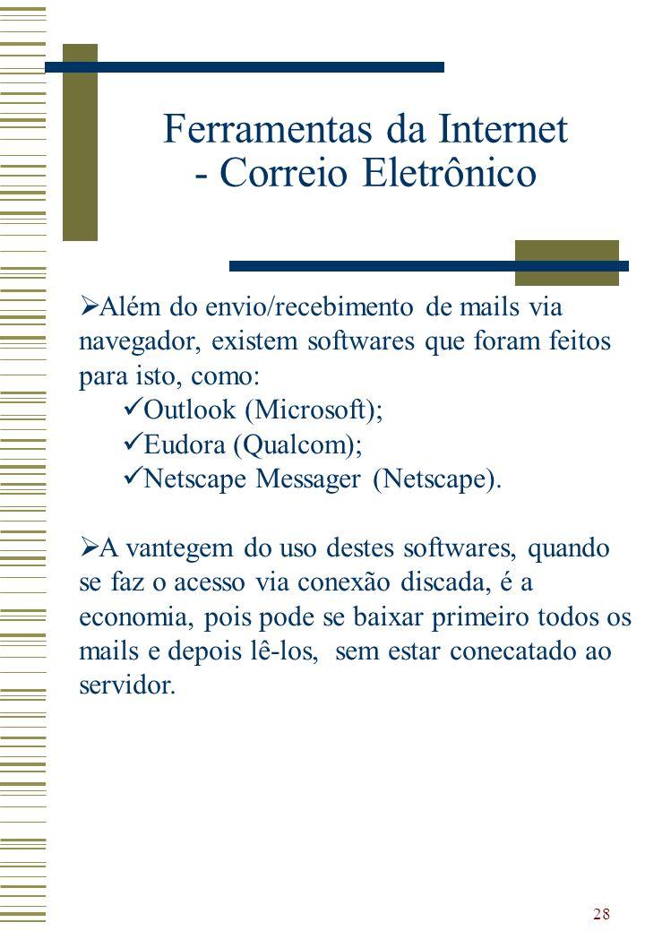 Ferramentas da Internet - Correio Eletrônico