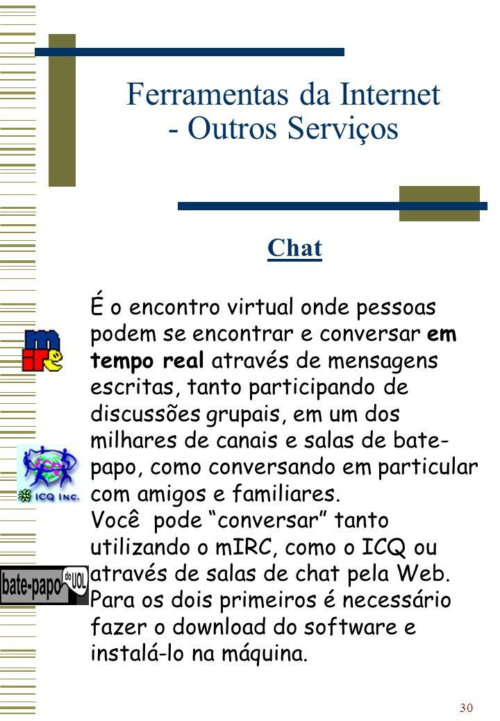 Ferramentas da Internet - Outros Serviços