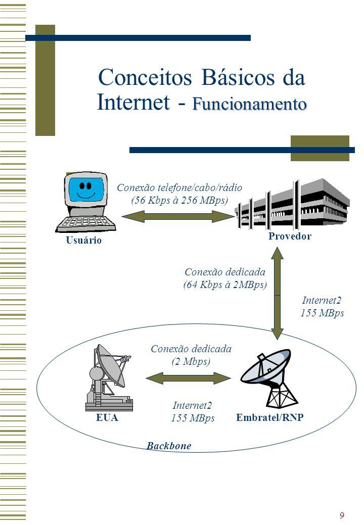 Conceitos Básicos da Internet - Funcionamento
