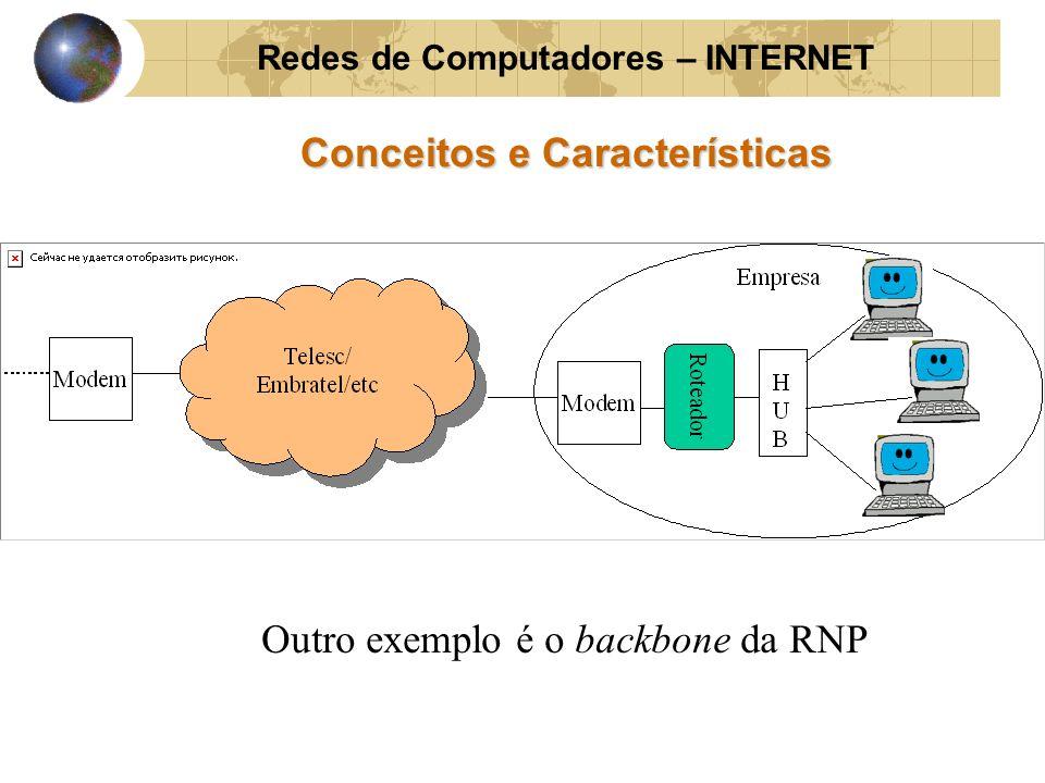 Redes de Computadores – INTERNET Conceitos e Características