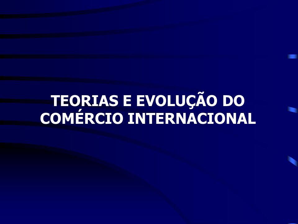TEORIAS E EVOLUÇÃO DO COMÉRCIO INTERNACIONAL