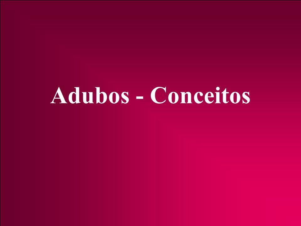 Adubos - Conceitos