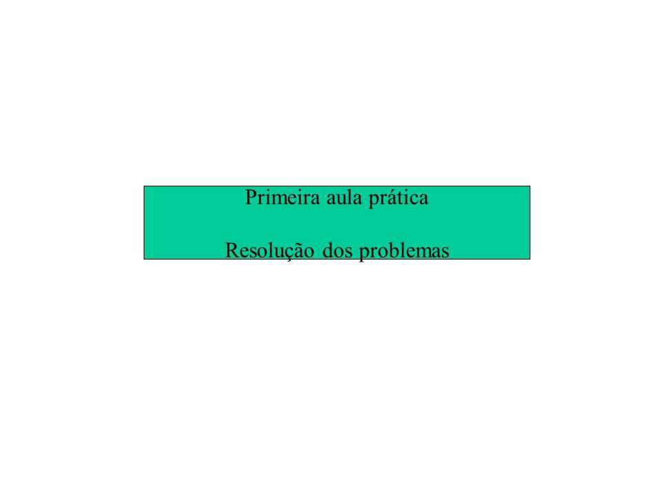 Resolução dos problemas