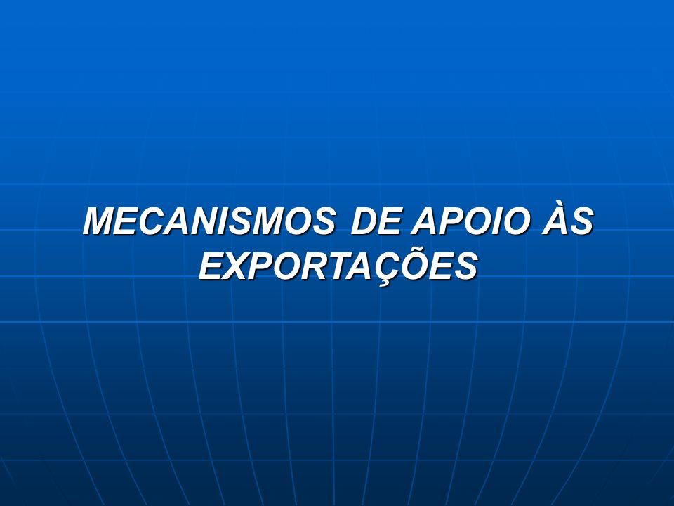 MECANISMOS DE APOIO ÀS EXPORTAÇÕES