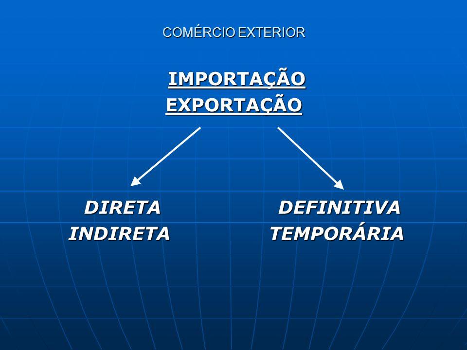 EXPORTAÇÃO INDIRETA TEMPORÁRIA