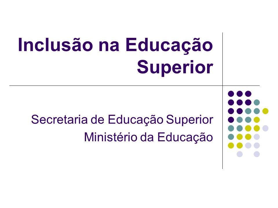 Inclusão na Educação Superior