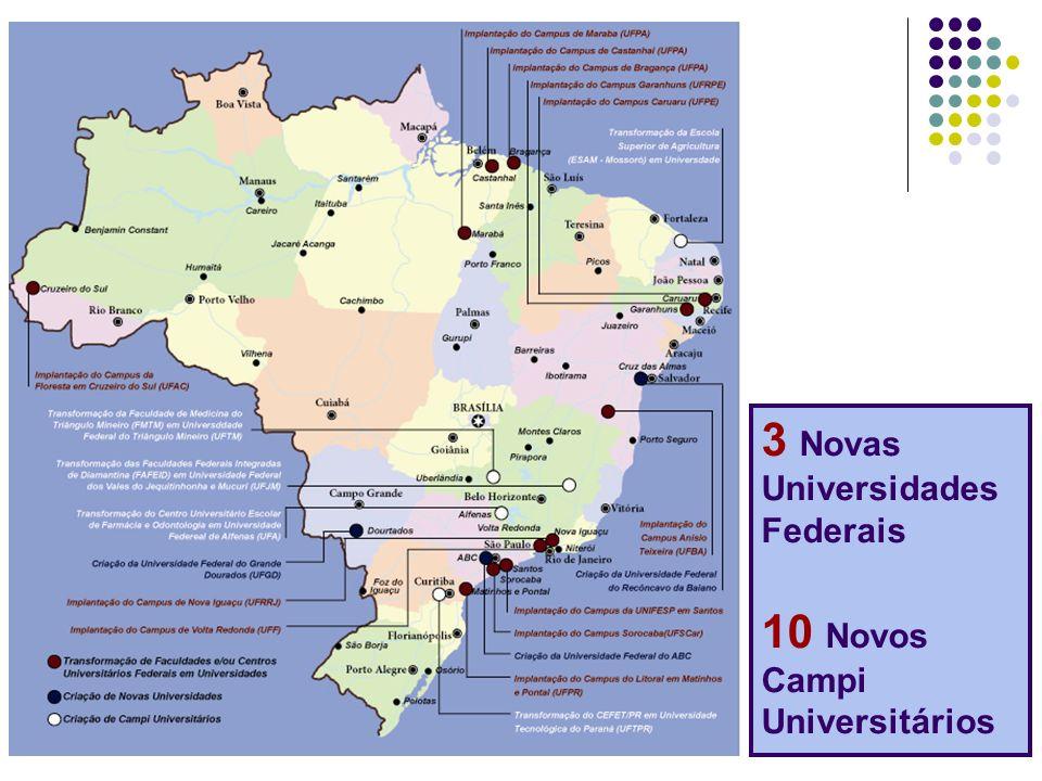 3 Novas Universidades Federais