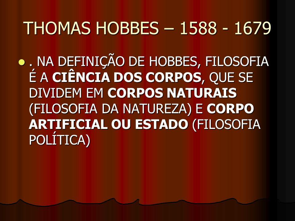 THOMAS HOBBES – 1588 - 1679