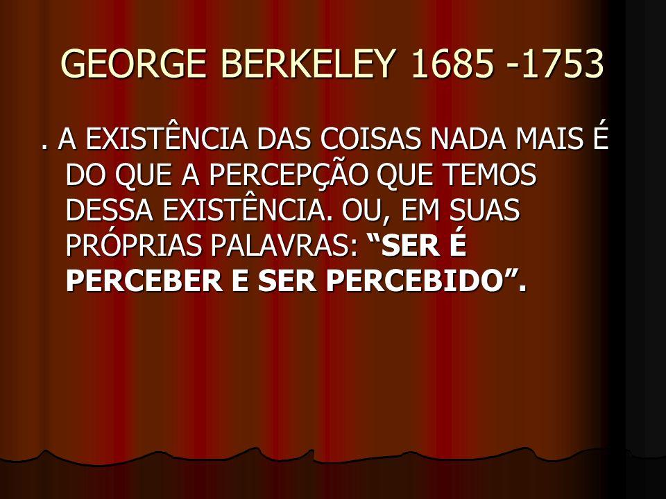 GEORGE BERKELEY 1685 -1753
