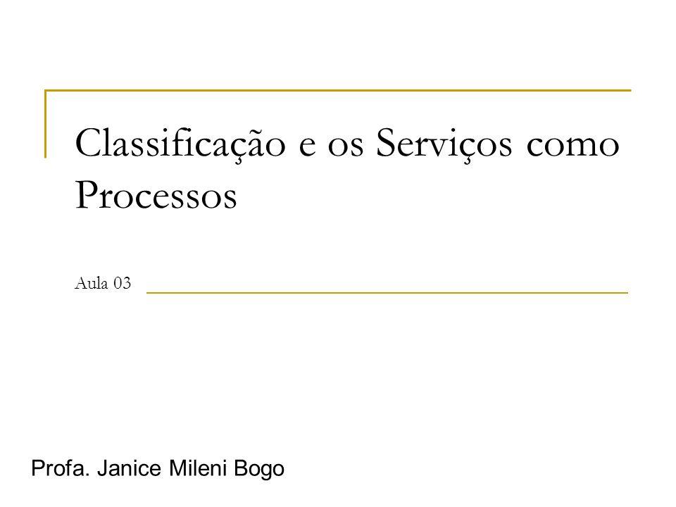 Classificação e os Serviços como Processos Aula 03