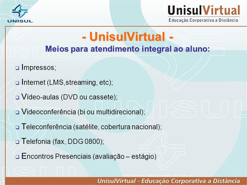 - UnisulVirtual - Meios para atendimento integral ao aluno: