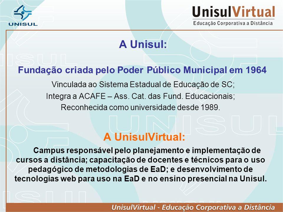 Fundação criada pelo Poder Público Municipal em 1964
