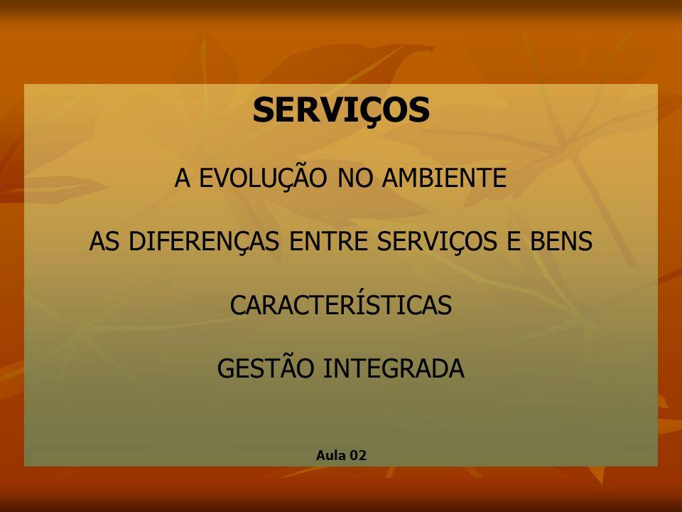 AS DIFERENÇAS ENTRE SERVIÇOS E BENS