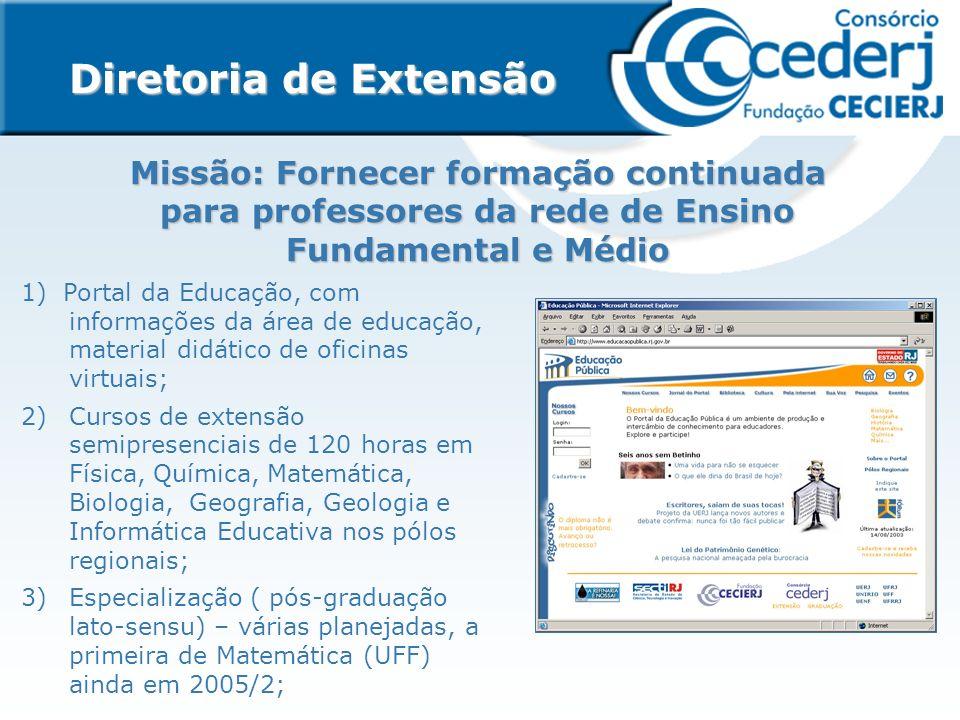 Diretoria de Extensão Missão: Fornecer formação continuada