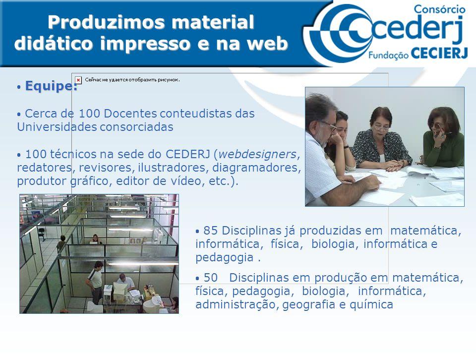 Produzimos material didático impresso e na web