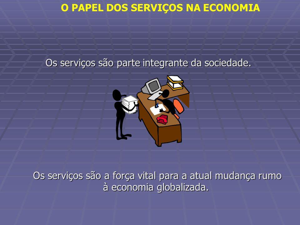 O PAPEL DOS SERVIÇOS NA ECONOMIA