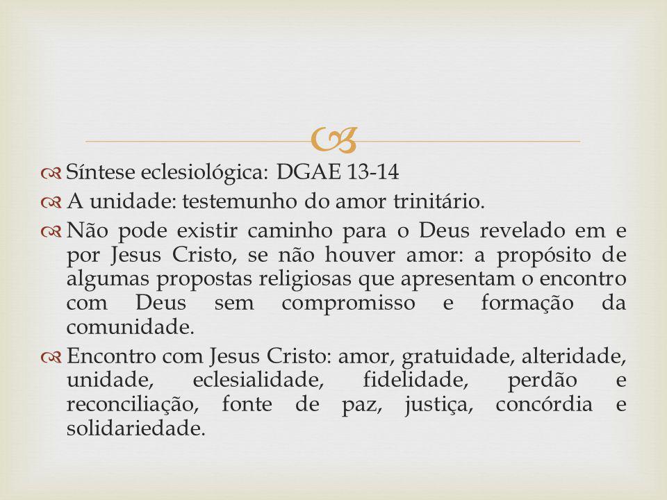 Síntese eclesiológica: DGAE 13-14