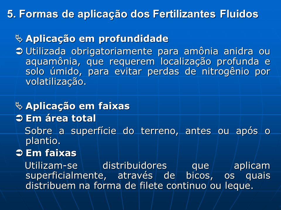 5. Formas de aplicação dos Fertilizantes Fluidos