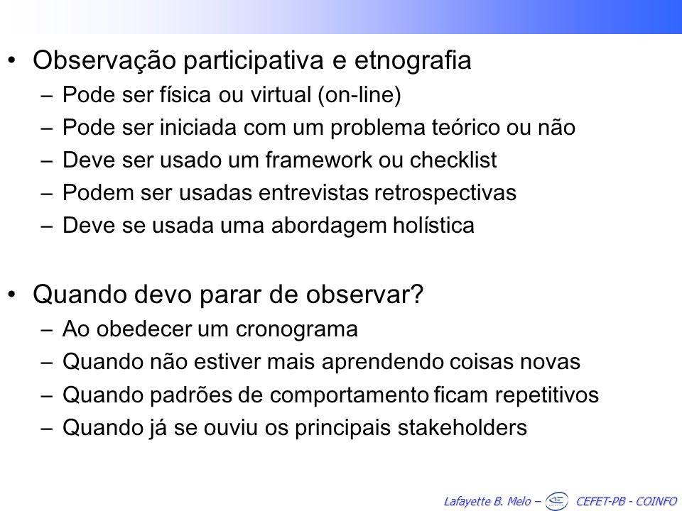 Observação participativa e etnografia