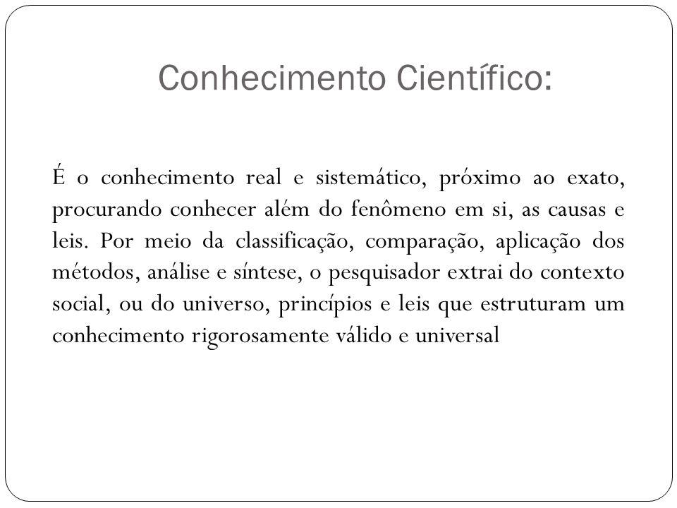 Conhecimento Científico: