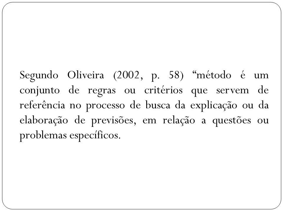 Segundo Oliveira (2002, p.