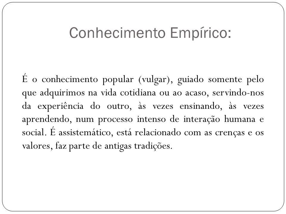 Conhecimento Empírico: