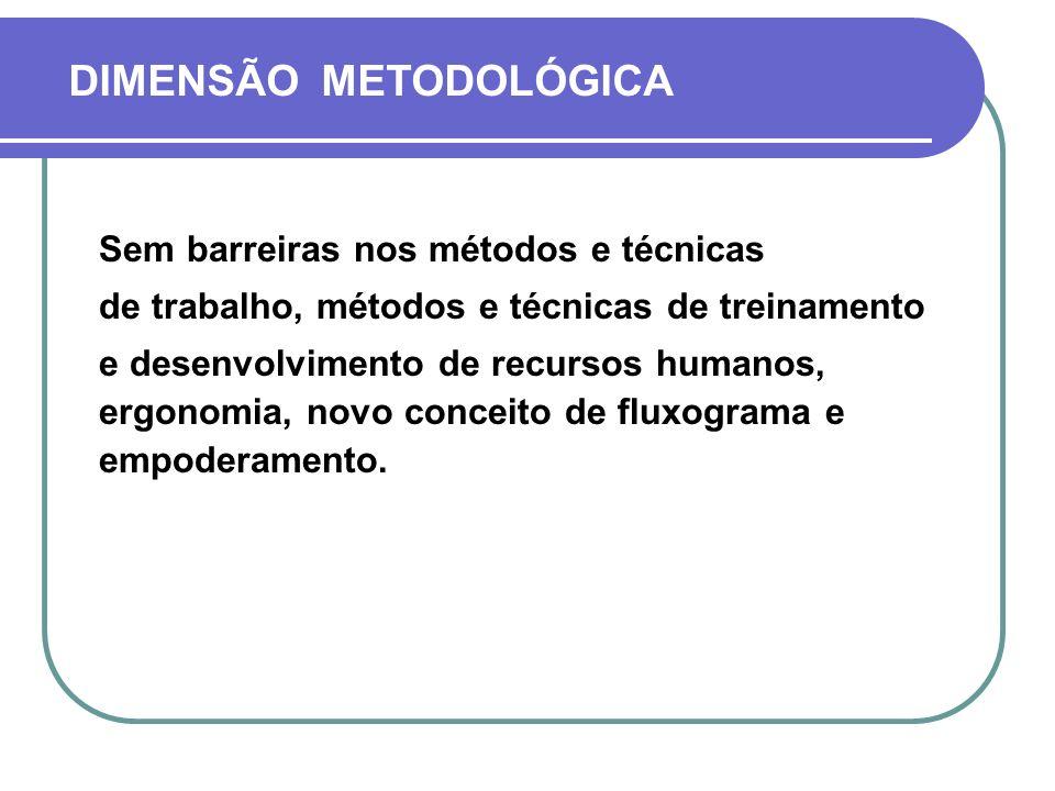 DIMENSÃO METODOLÓGICA
