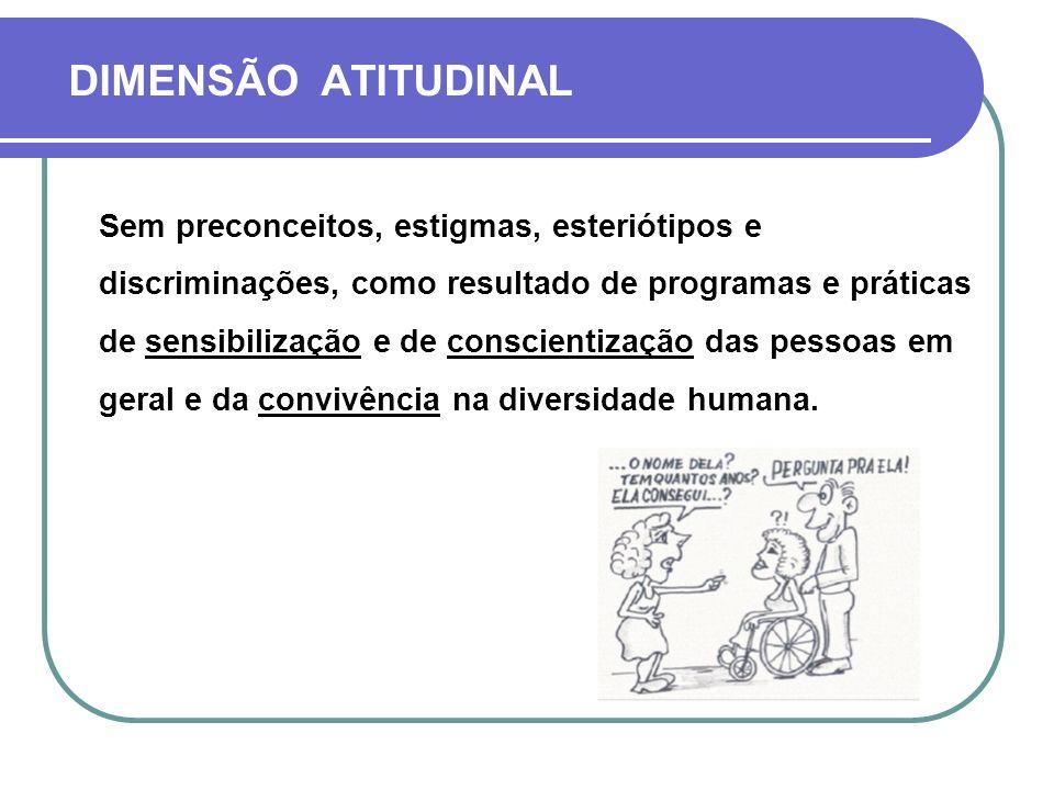 DIMENSÃO ATITUDINAL