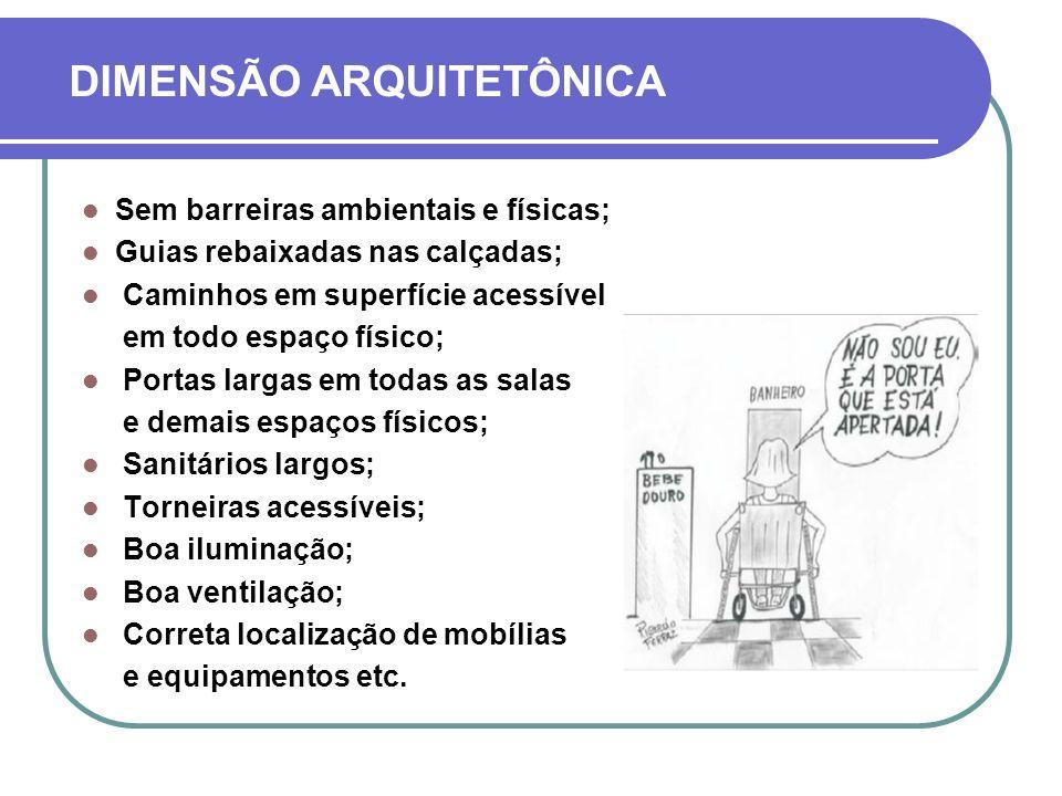 DIMENSÃO ARQUITETÔNICA