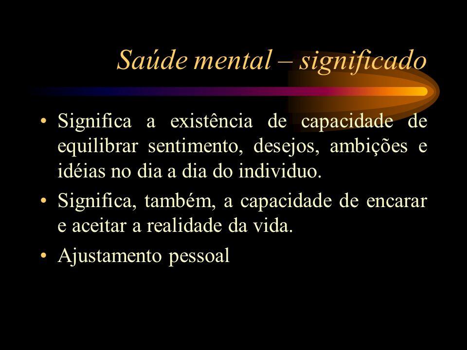 Saúde mental – significado