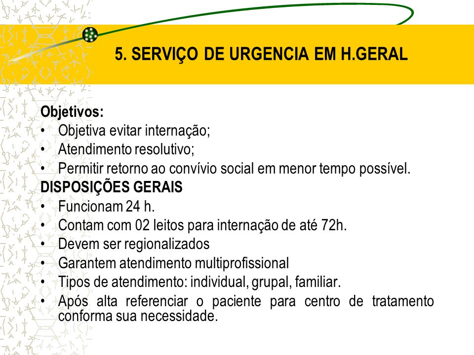5. SERVIÇO DE URGENCIA EM H.GERAL