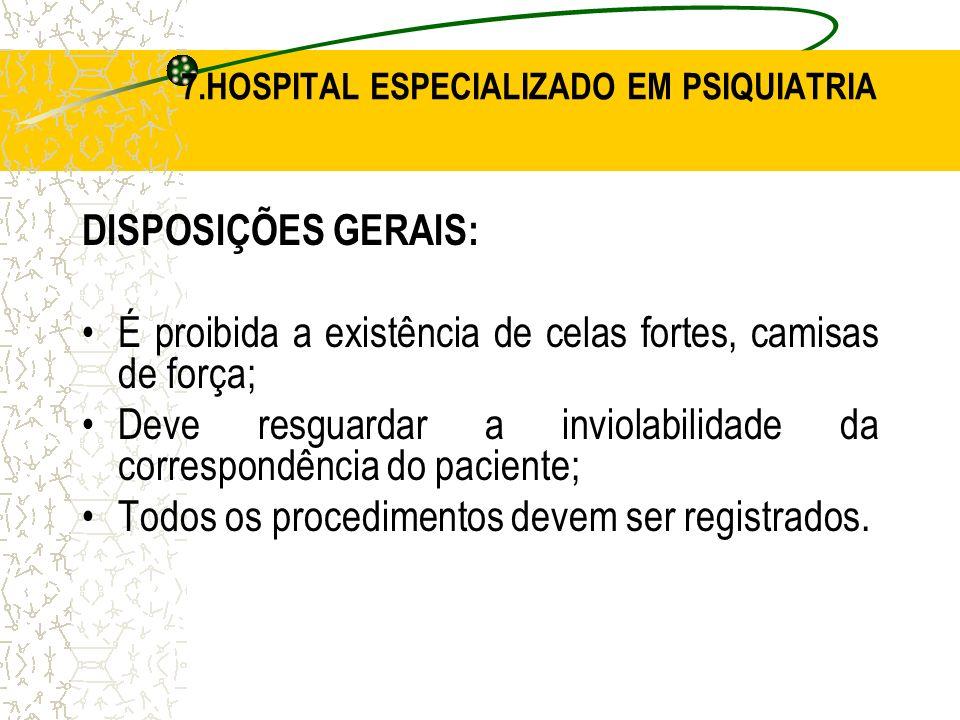 7.HOSPITAL ESPECIALIZADO EM PSIQUIATRIA
