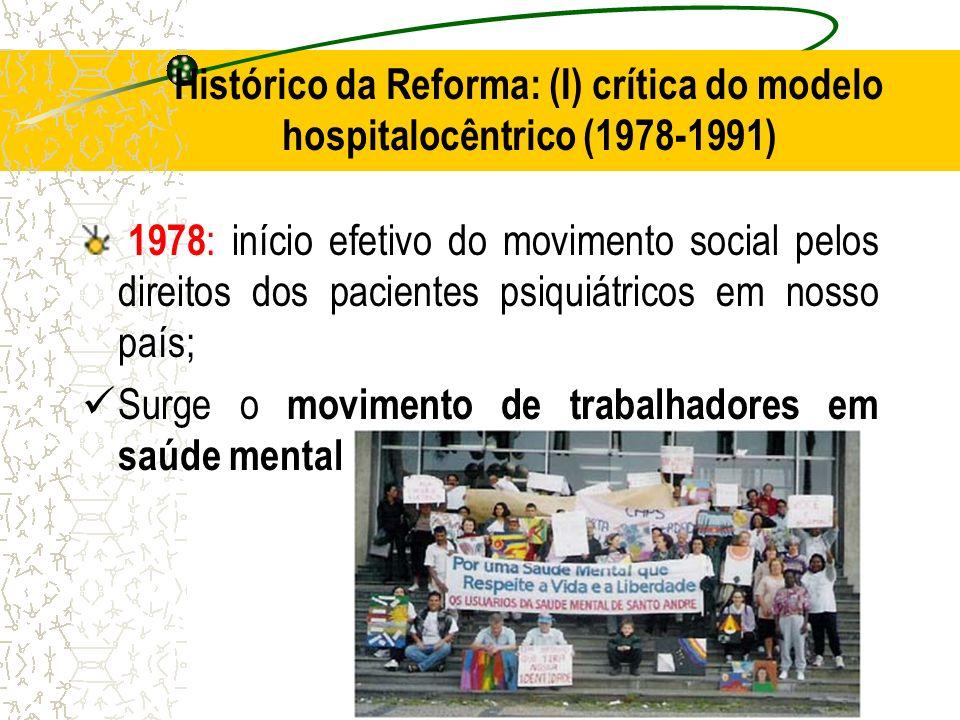 Histórico da Reforma: (I) crítica do modelo hospitalocêntrico (1978-1991)