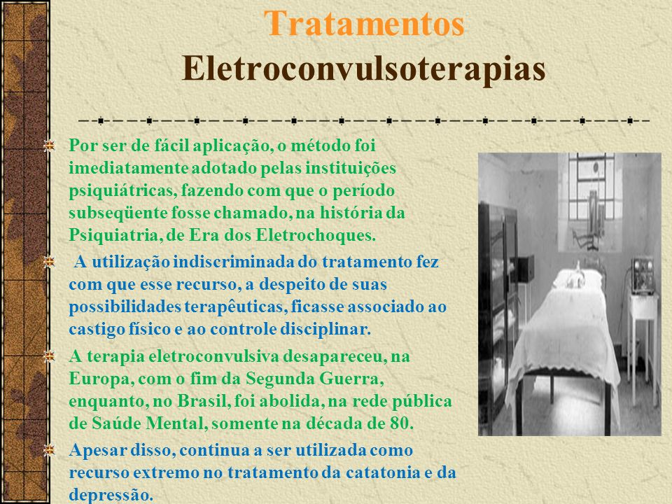 Tratamentos Eletroconvulsoterapias