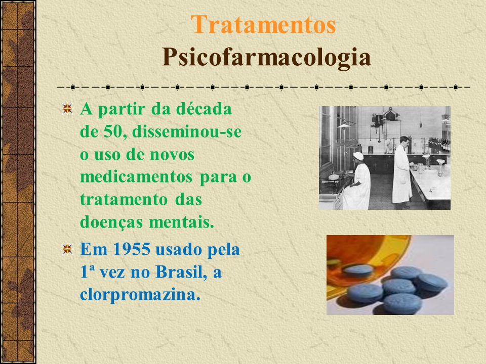 Tratamentos Psicofarmacologia