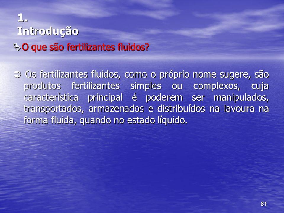 1. Introdução O que são fertilizantes fluidos
