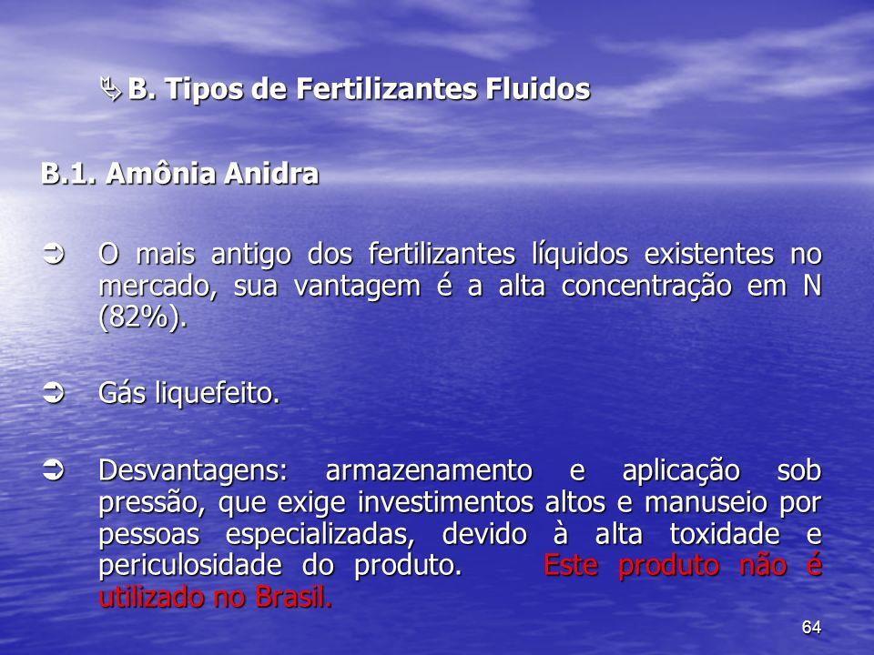  B. Tipos de Fertilizantes Fluidos