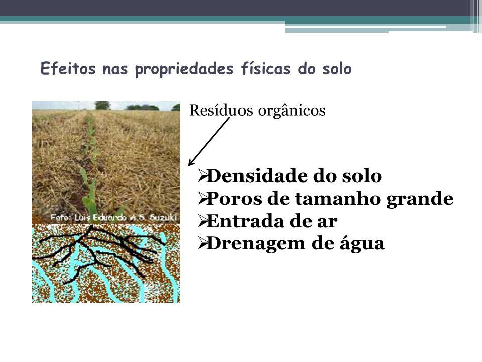 Efeitos nas propriedades físicas do solo