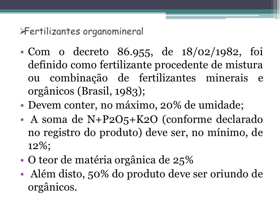 Fertilizantes organomineral