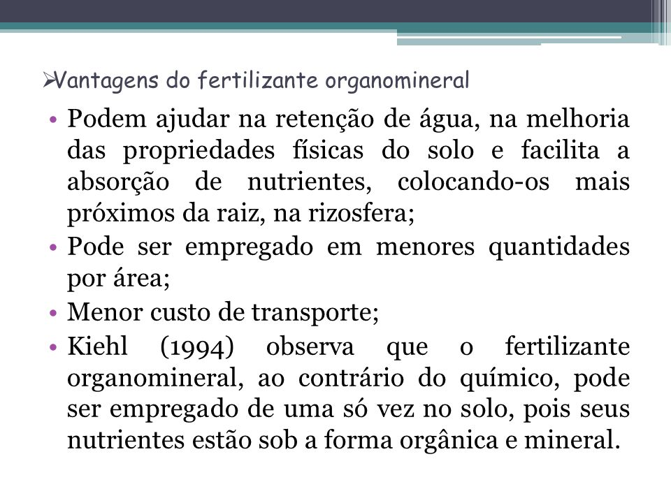 Vantagens do fertilizante organomineral