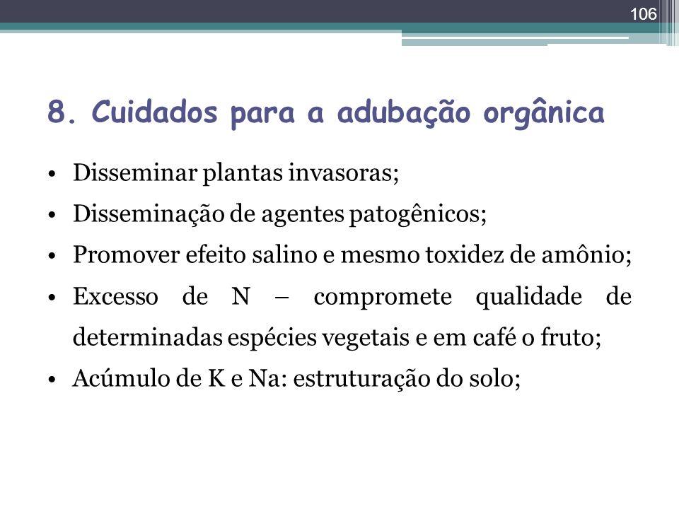 8. Cuidados para a adubação orgânica