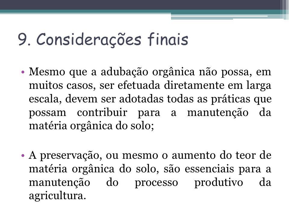 9. Considerações finais