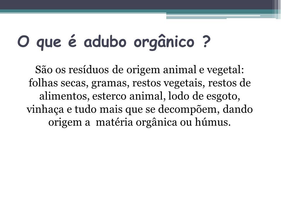 O que é adubo orgânico