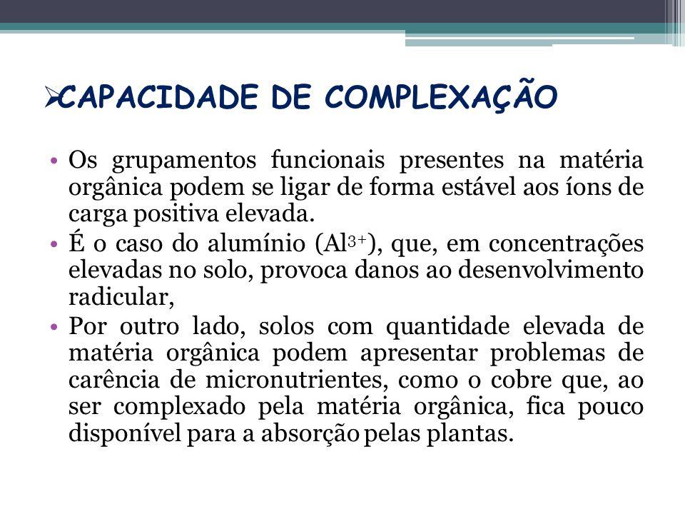 CAPACIDADE DE COMPLEXAÇÃO