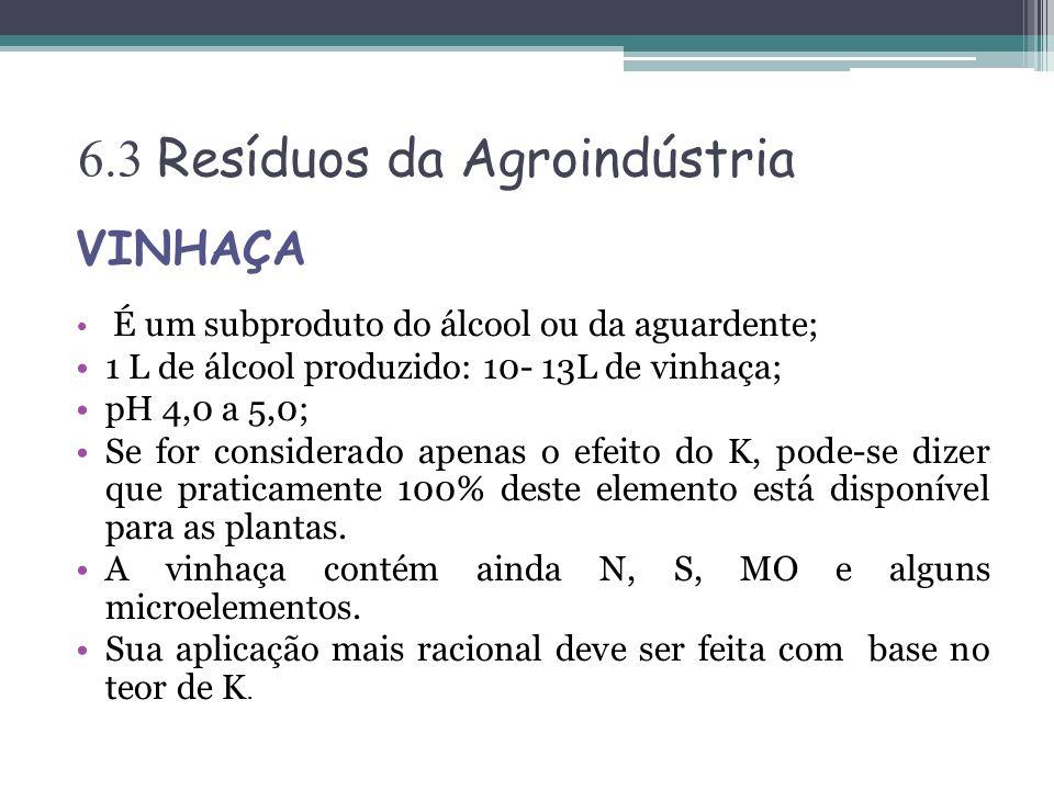 6.3 Resíduos da Agroindústria