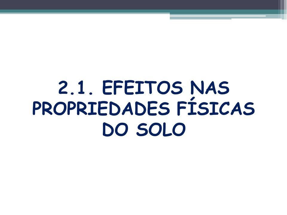2.1. EFEITOS NAS PROPRIEDADES FÍSICAS DO SOLO