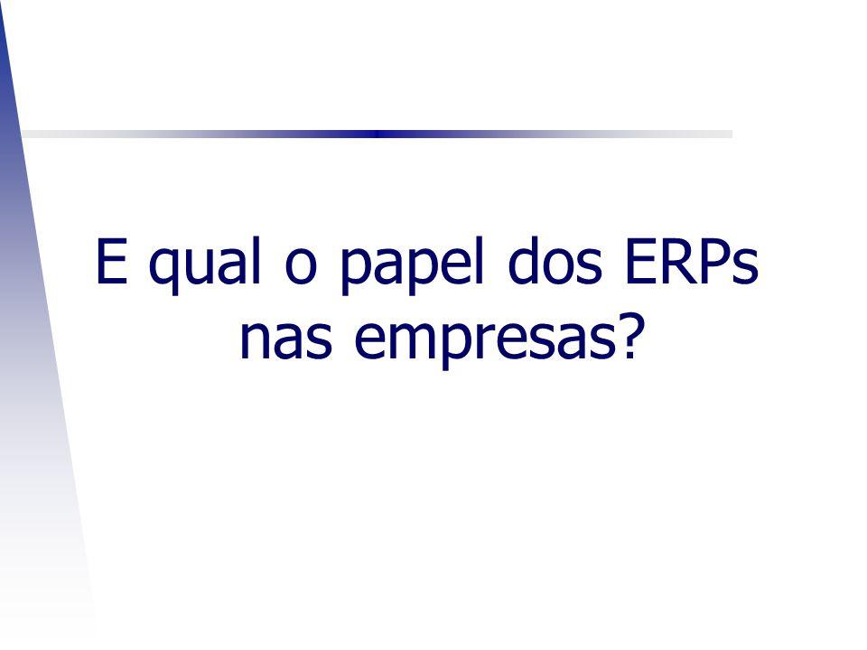 E qual o papel dos ERPs nas empresas